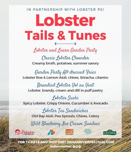 Lobster and Learn Garden Party Menu